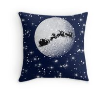 Father Christmas on Christmas Eve Throw Pillow