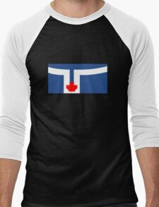 Flag of Toronto, Canada Men's Baseball ¾ T-Shirt