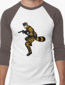 Tanooki Camouflauge Men's Baseball ¾ T-Shirt