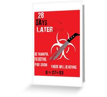 28 Days Later-Red Greeting Card