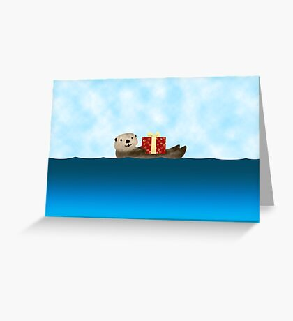 Sea Otter card Greeting Card