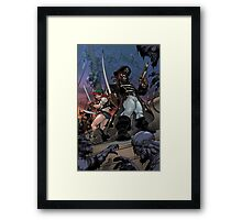 Zoombies on Deck - Trader Jack and Mad Martha Framed Print