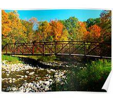 Walking into Autumn Poster