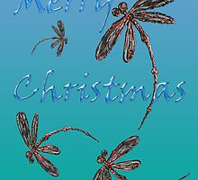 Merry Christmas Dragonflies  by lyndseyart