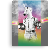 Badass Unicorn Canvas Print
