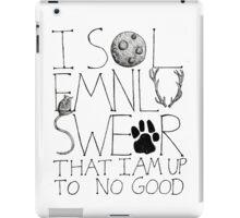 I Solemnly Swear... iPad Case/Skin