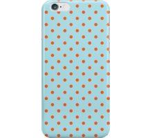 Polka Dots Background Blue Orange iPhone Case/Skin