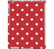 Polka Dots Background Red White iPad Case/Skin