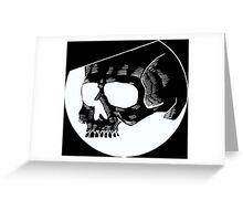Graphic round black skull Greeting Card
