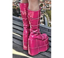 Pink Boots Photographic Print