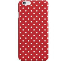 Polka Dots Background Red White iPhone Case/Skin