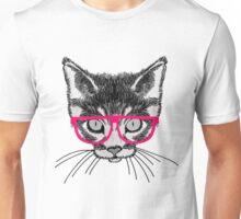Hipster Kitten Unisex T-Shirt