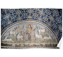 The Good Shepherd and his Sheep mosaic mid C5 Tomb of Gallia Placida Ravenna Italy 19840414 0074  Poster