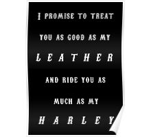 Harley Wedding Poster