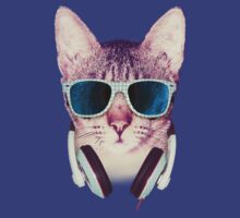 Hipster Cat With Glasses (Black Hole) by mullian