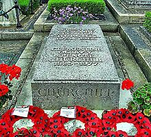 WINSTON CHURCHILL'S GRAVE by Margaret Stevens