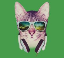 Hipster Cat With Glasses (Space Nebula 2) by mullian