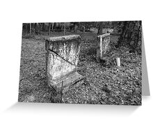 Cracked Tomb Stone Artistic Photograph by Shannon Sears Greeting Card