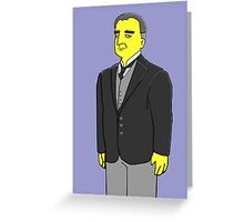 Carson - the Butler - Downton Abbey Greeting Card