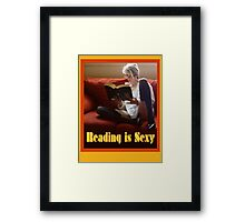 Reading Is Sexy Poster Framed Print