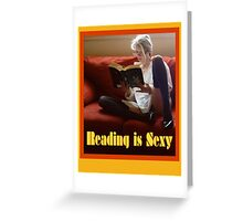 Reading Is Sexy Poster Greeting Card
