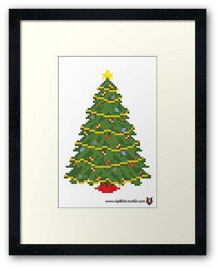 Christmas Tree - V:IPixels Holiday Collection by Victor  Dandridge