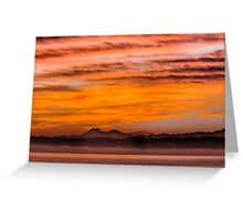 Thanksgiving Day Sunset Greeting Card