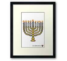 Menorah - V:IPixels Holiday Collection Framed Print