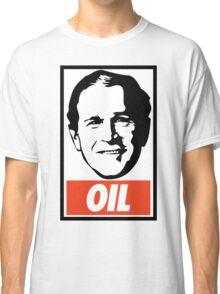 George W. Bush OIL - OBEY Parody Classic T-Shirt