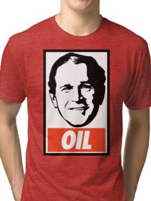 George W. Bush OIL - OBEY Parody Tri-blend T-Shirt