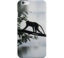 Monkey Silhouette iPhone Case/Skin