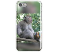 Innocent Monkey with Stolen Ball iPhone Case/Skin