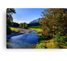 Sunny Morning, Banff, Alberta Canada Canvas Print