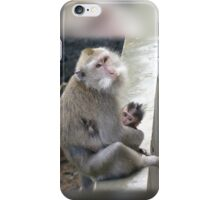 Monkey Mother and Child iPhone Case/Skin
