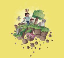 """Falling MineCraft World"" One Piece - Short Sleeve"