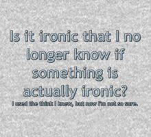 Is it ironic? One Piece - Long Sleeve