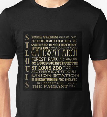 St. Louis Missouri Famous Landmarks Unisex T-Shirt