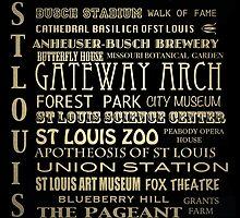 St. Louis Missouri Famous Landmarks by Patricia Lintner