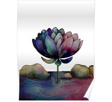 rainbow lotus flower Poster