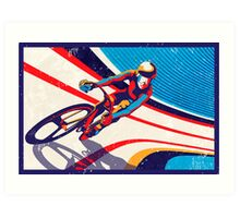 retro track cycling print poster Art Print