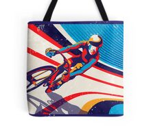 retro track cycling print poster Tote Bag