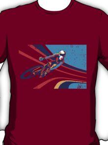retro track cycling print poster T-Shirt