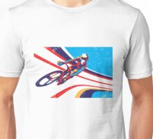 retro track cycling print poster Unisex T-Shirt