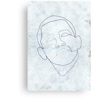 Barack Obama one-line drawing. Canvas Print