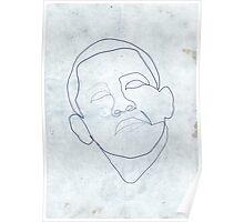 Barack Obama one-line drawing. Poster