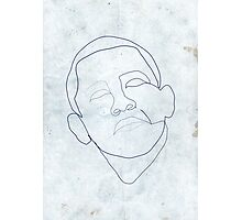 Barack Obama one-line drawing. Photographic Print