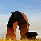 Simnai Dirdro (Twisted Chimney), Rhymney, Wales (Portrait version) by buttonpresser