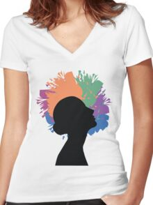 Creative Mind Women's Fitted V-Neck T-Shirt