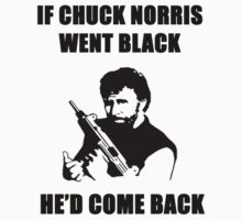 IF CHUCK NORRIS TURNED BLACK HE'D COME BACK by BelfastBoy