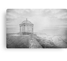 Temple on the Cliff Canvas Print